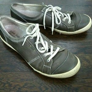 Josef Seibel Caspian imola grigio leather sneakers